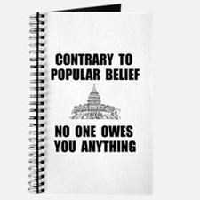 No One Owes You Journal