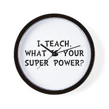 Teach Super Power Wall Clock