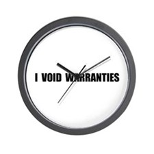 Void Warranties Wall Clock