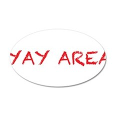 yay area4 red Wall Decal