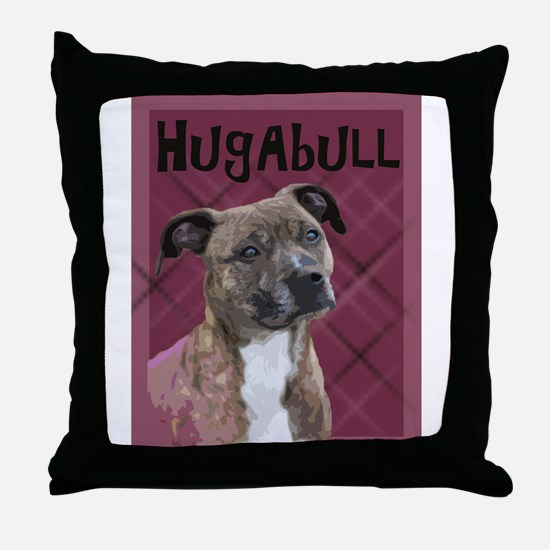 HugAbull Throw Pillow
