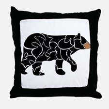 Wild - Black bear Throw Pillow