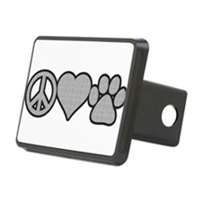 peace love paw Hitch Cover
