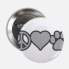 "peace love paw 2.25"" Button"