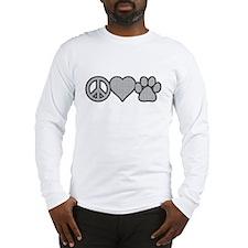 peace love paw Long Sleeve T-Shirt