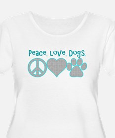 peace love dogs Plus Size T-Shirt