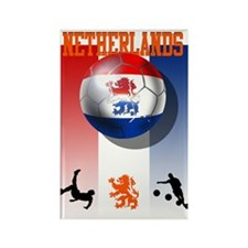 Netherlands Football Rectangle Magnet