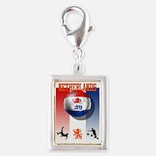Netherlands Football Silver Portrait Charm