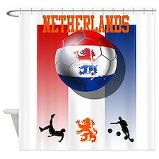 Netherlands Football Shower Curtain
