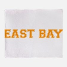 east bay2 orange Throw Blanket