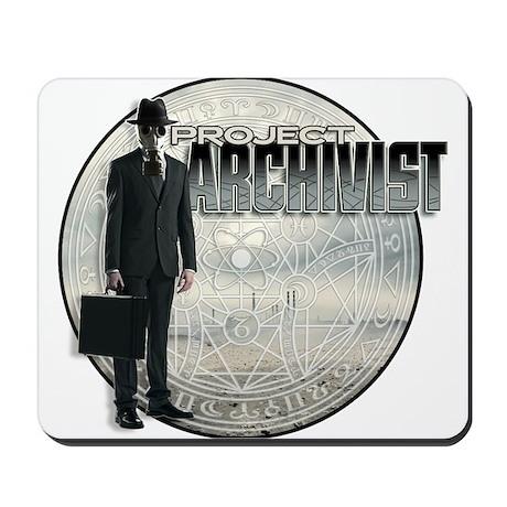 Project Archivist White T Mousepad