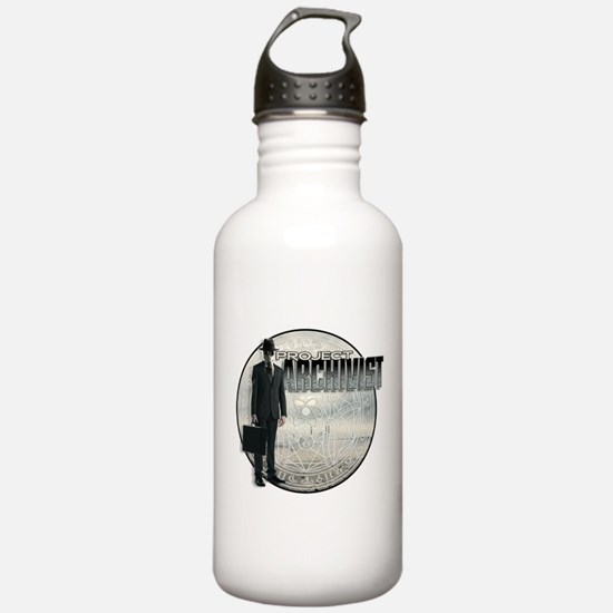 Project Archivist White T Water Bottle