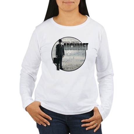 Project Archivist White T Women's Long Sleeve T-Sh