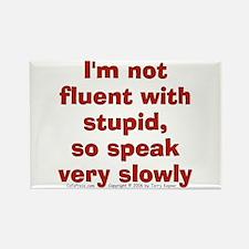 Fluent Stupid (txt) Rectangle Magnet