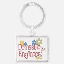 Domestic engineer.png Landscape Keychain