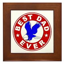 Best Dad Ever Framed Tile