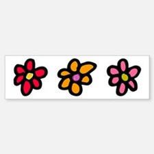 Flower Cut Out Bumper Bumper Bumper Sticker