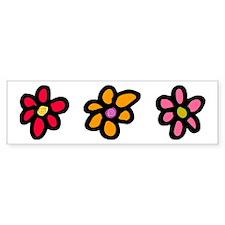 Flower Cut Out Bumper Bumper Sticker