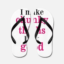 Chunky Thighs Funny Baby Flip Flops