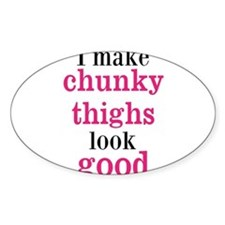 Chunky Thighs Funny Baby Decal