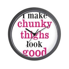 Chunky Thighs Funny Baby Wall Clock