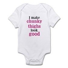 Chunky Thighs Funny Baby Body Suit