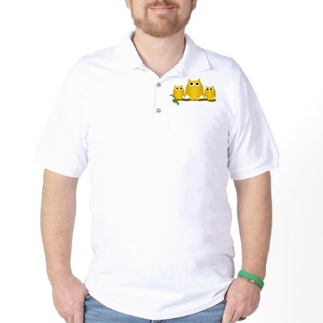 Gold Owls Golf Shirt