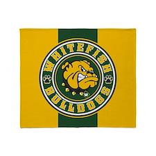 Whitefish Bulldogs Circle Throw Blanket