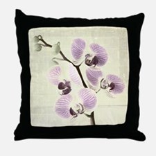 Light Orchids Throw Pillow
