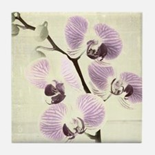Light Orchids Tile Coaster