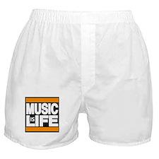 music life orange Boxer Shorts