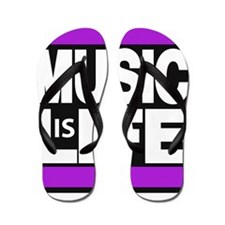 music life purple Flip Flops