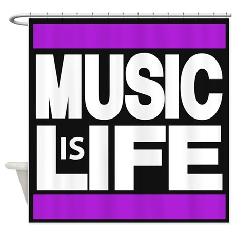 music life purple Shower Curtain