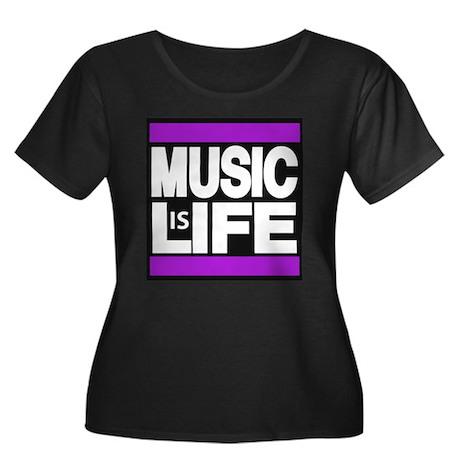 music life purple Plus Size T-Shirt