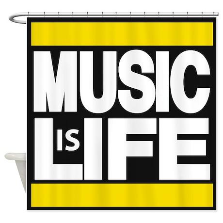 music life yellow Shower Curtain