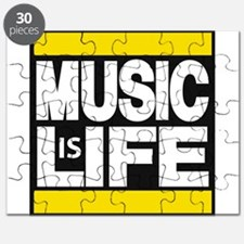 music life yellow Puzzle