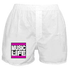 music life pink Boxer Shorts
