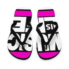 music life pink Flip Flops