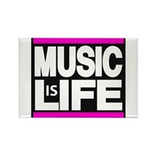 music life pink Rectangle Magnet