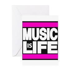 music life pink Greeting Card