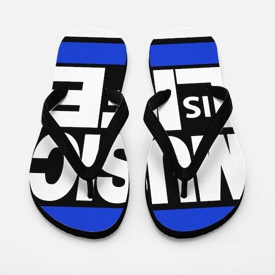 music life blue Flip Flops