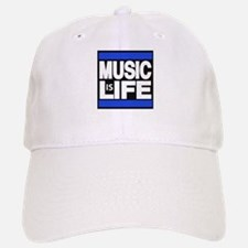 music life blue Baseball Baseball Baseball Cap