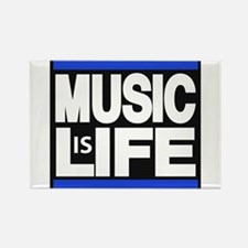 music life blue Rectangle Magnet