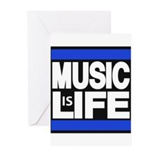 music life blue Greeting Cards (Pk of 20)
