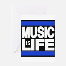 music life blue Greeting Card