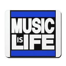 music life blue Mousepad