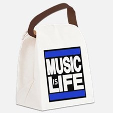 music life blue Canvas Lunch Bag