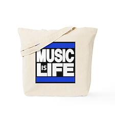 music life blue Tote Bag