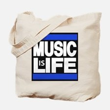 music life blue Tote Bag