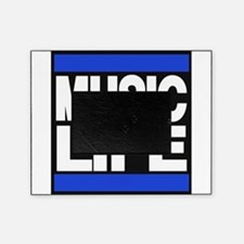 music life blue Picture Frame